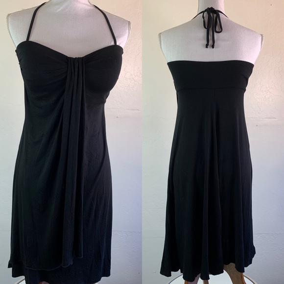 SKYE Cover Up Black Halter Self Tie Dress